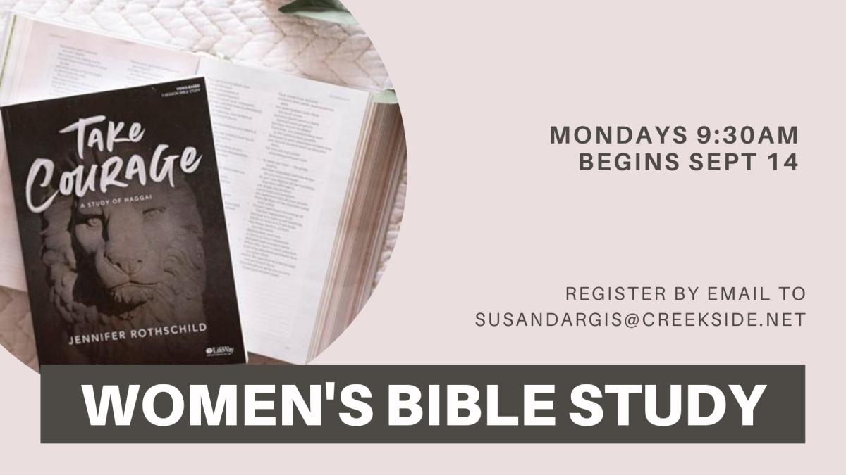 Women's Mon AM Bible Study - Take Courage