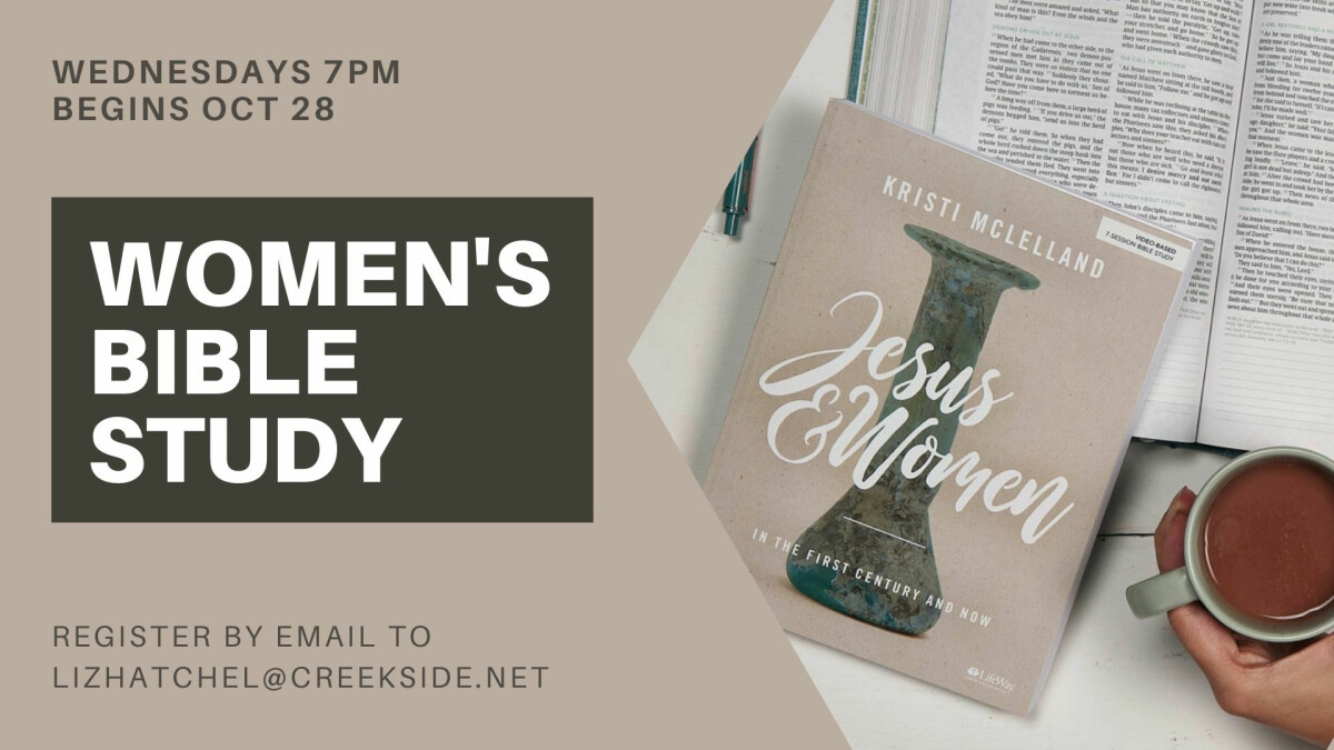 Women's Wed PM Bible Study - Jesus & Women