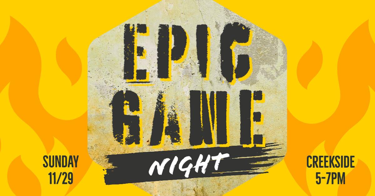 EPIC Game Night