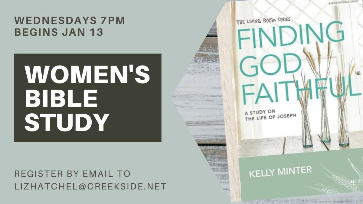 Women's Wed PM Bible Study - Finding God Faithful